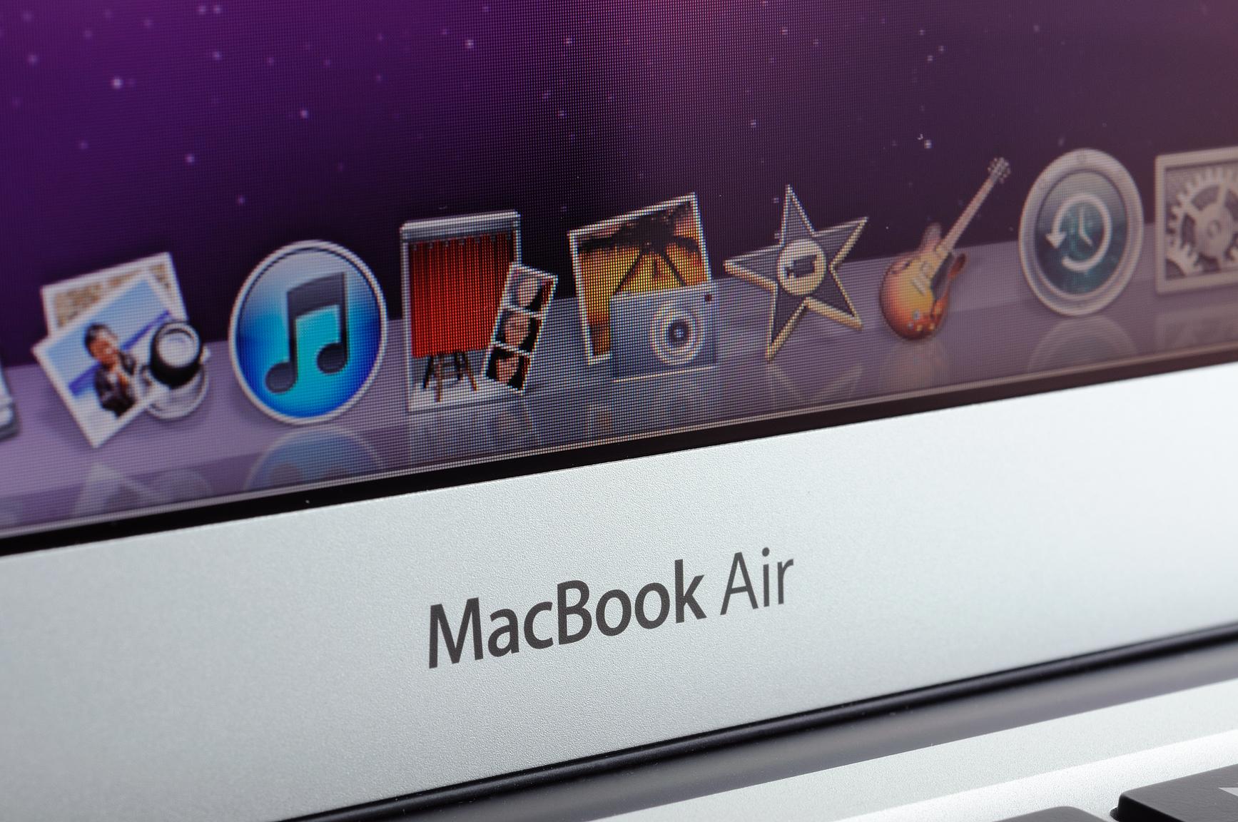 how to fix bent corner on macbook air